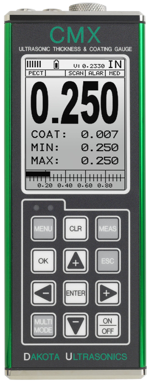 Dakota CMX Series Material & Coating Ultrasonic Thickness Gauge