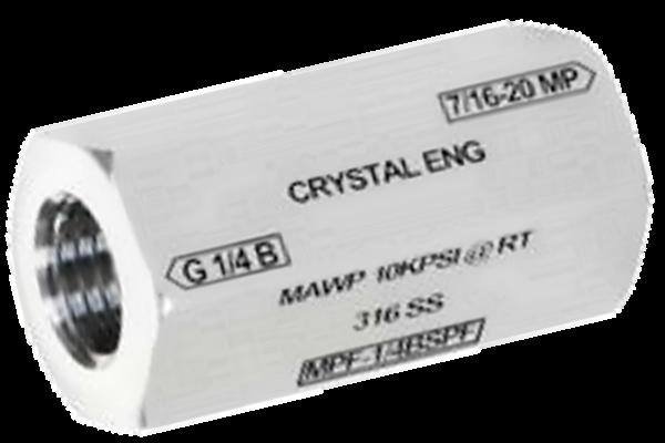 "Crystal MPF-1/8BSPF CPF Female x 1/8"" BSPP Female"