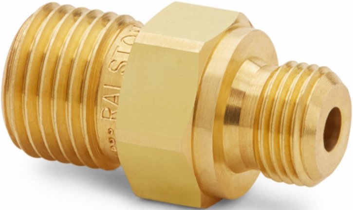 "Ralston QTHA-1MB0-RS Quick-Test Male x 1/8"" BSPP Male (Brass)"