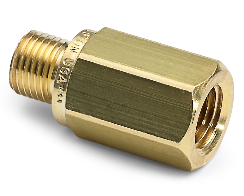 "Ralston QTHA-2FB1 Quick-Test Male x 1/4"" NPT Female (Brass, Check Valve)"