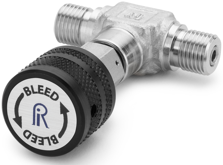 Ralston QTHA-TVLS Quick-Test Male x Quick-Test Male In-Line Vent Valve (345 Bar, Stainless Steel)