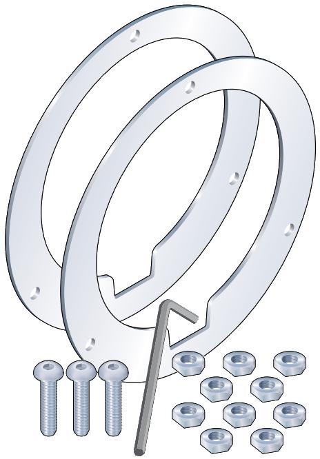 """Crystal XP2i Gauge 8.5"""" Flange Adapter Kit"""