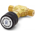Ralston QTHA-TVLB Quick-Test Male x Quick-Test Male In-Line Vent Valve (210 Bar, Brass)