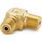 "Ralston QTHA-2MBL 1/4"" NPT Male x Quick-Test Male 90° Elbow Adapter (345 Bar, Brass)"