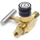 "Ralston QTHA-BLB0-1F-1F 1/8"" NPT Female x 1/8"" NPT Female Block & Bleed Valve (210 Bar, Brass)"