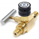 Ralston QTHA-BLB0-HH Quick-Test Male x Quick-Test Male Block & Bleed Valve (210 Bar, Brass)
