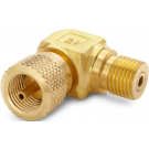 Ralston QTHA-HCBL Quick-Test Male x Quick-Test Female 90° Elbow Adapter (345 Bar, Brass)