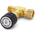 Ralston QTHA-TVLB-HC Quick-Test Male x Quick-Test Female In-Line Vent Valve (210 Bar, Brass)