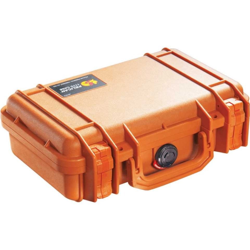 Pelican 1200 Small Carry Case (Orange)