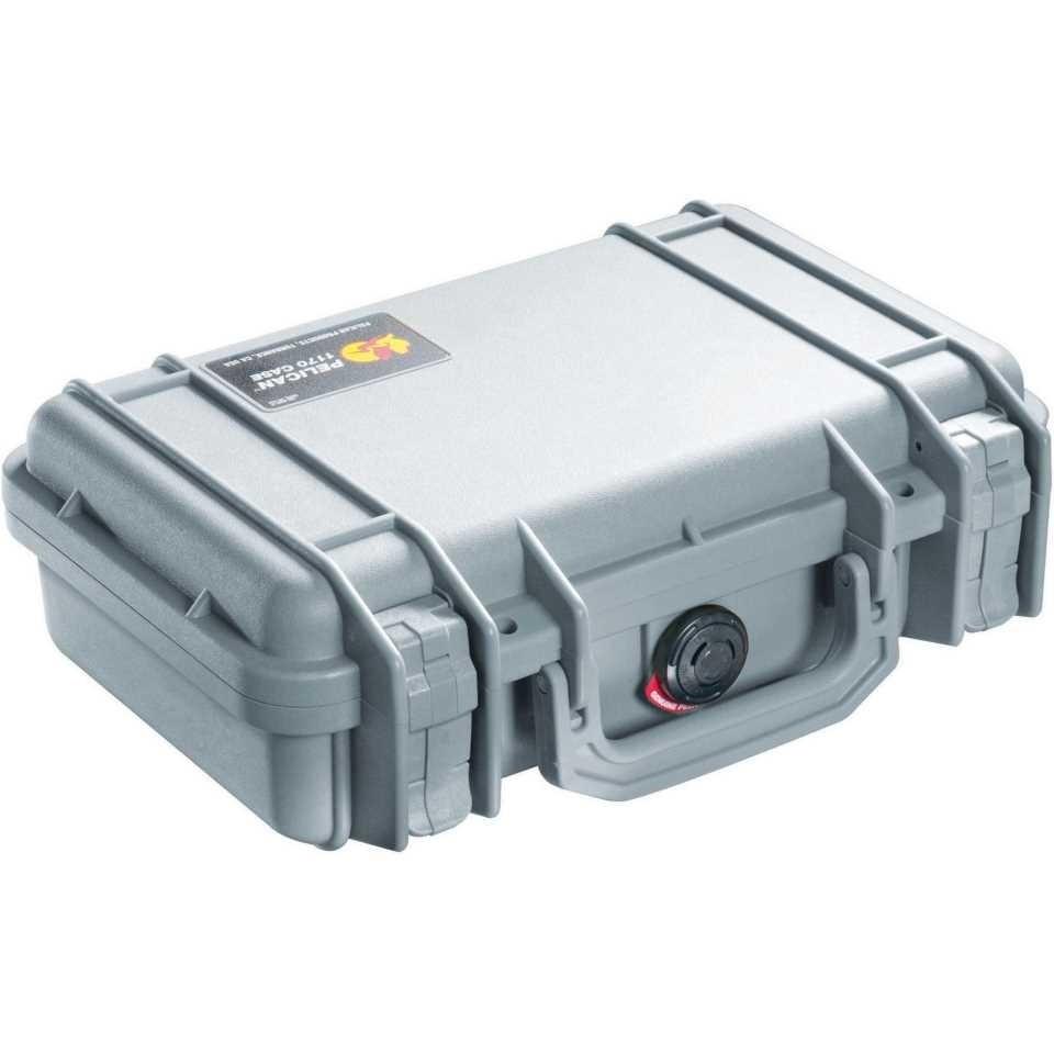 Pelican 1200 Small Carry Case (Silver)