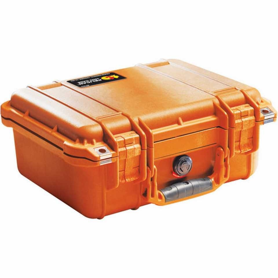 Pelican 1400 Small Carry Case (Orange)