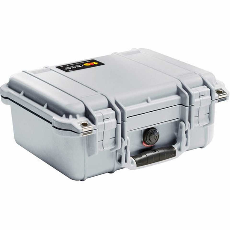 Pelican 1400 Small Carry Case (Silver)