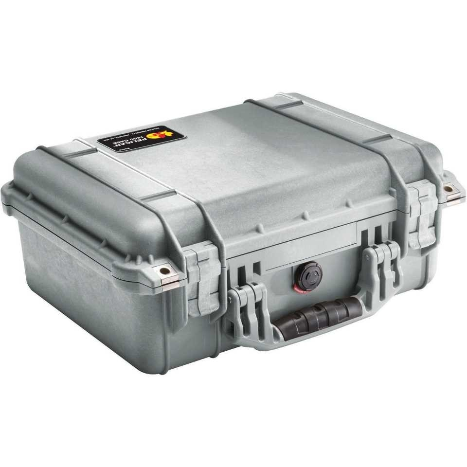 Pelican 1450 Medium Carry Case (Silver)