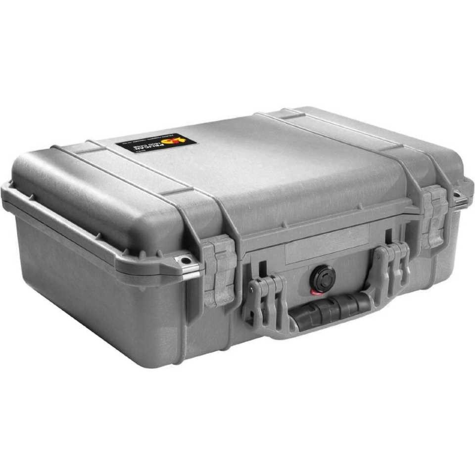 Pelican 1500 Medium Carry Case (Silver)
