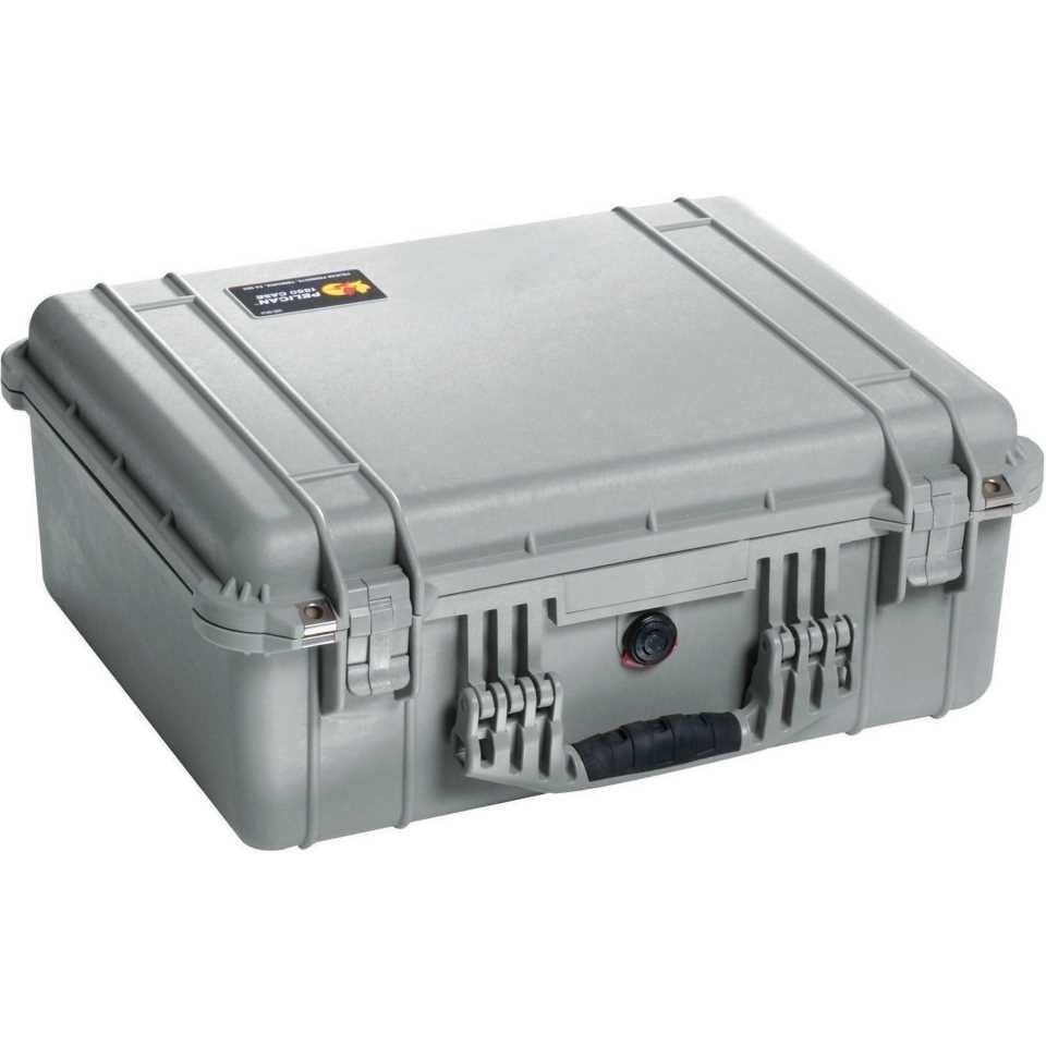 Pelican 1550 Medium Carry Case (Silver)
