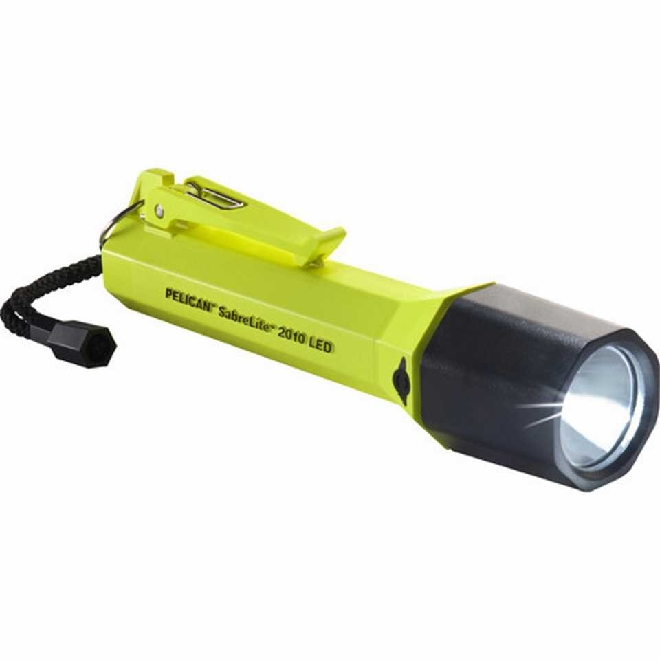 Pelican 2010 SabreLite LED Torch (Yellow)