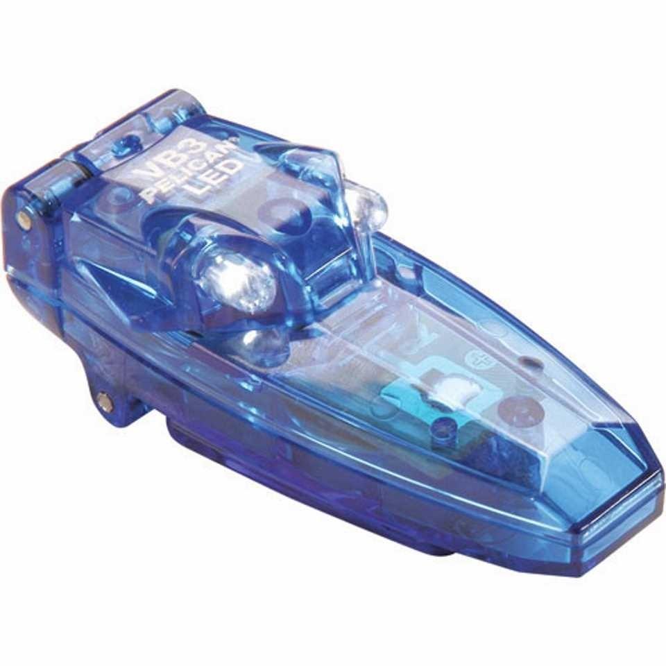 Pelican 2220 VB3 Clip-On Light (Blue)