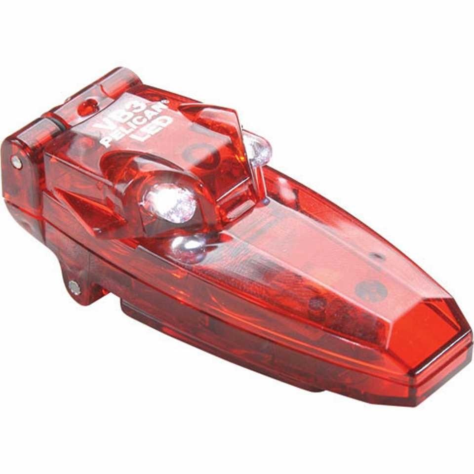 Pelican 2220 VB3 Clip-On Light (Red)