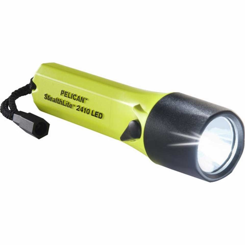 Pelican 2410 StealthLite LED Torch (Yellow)