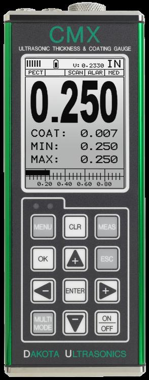 Dakota CMX Series Material & Coating Ultrasonic Thickness Gauge