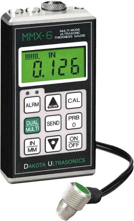 Dakota MMX-6 Series Multi-Mode Ultrasonic Thickness Gauge