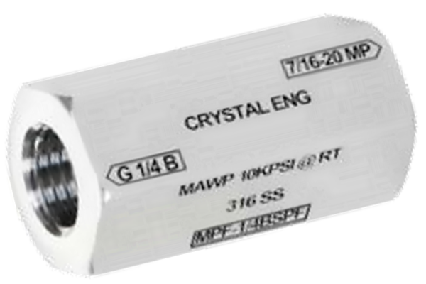 Crystal CPF Female to 1/2in BSPP Female Adapter