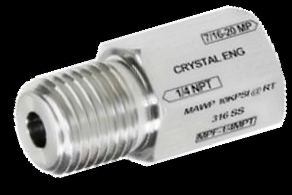 "Crystal MPF-1/8MPT CPF Female x 1/8"" NPT Male"