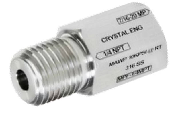 "Crystal MPF-1/4MPT CPF Female x 1/4"" NPT Male"