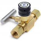 "Ralston QTHA-BLB0-2F-2F 1/4"" NPT Female x 1/4"" NPT Female Block & Bleed Valve (210 Bar, Brass)"